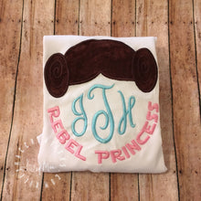 "Load image into Gallery viewer, ""Rebel Princess"" Monogram Topper Design"