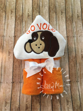 Hound Dog Hooded Towel