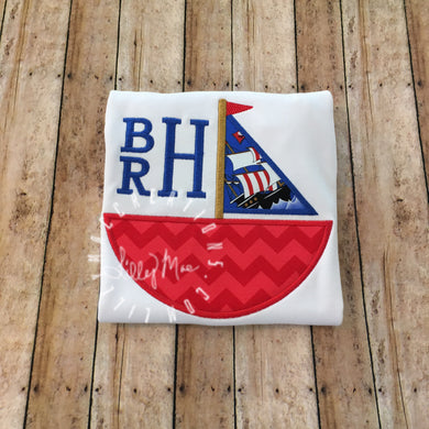 Sailboat Boy Monogram Design