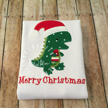 Load image into Gallery viewer, Dinosaur Santa Design