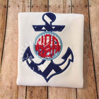 Anchor Monogram Design