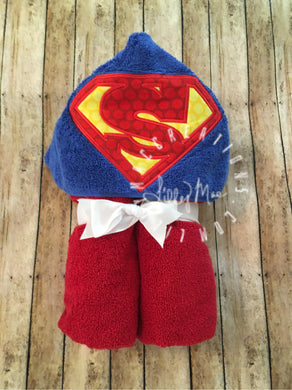 Super Hero Hooded Towel