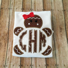 Load image into Gallery viewer, Gingerbread Girl Monogram Design