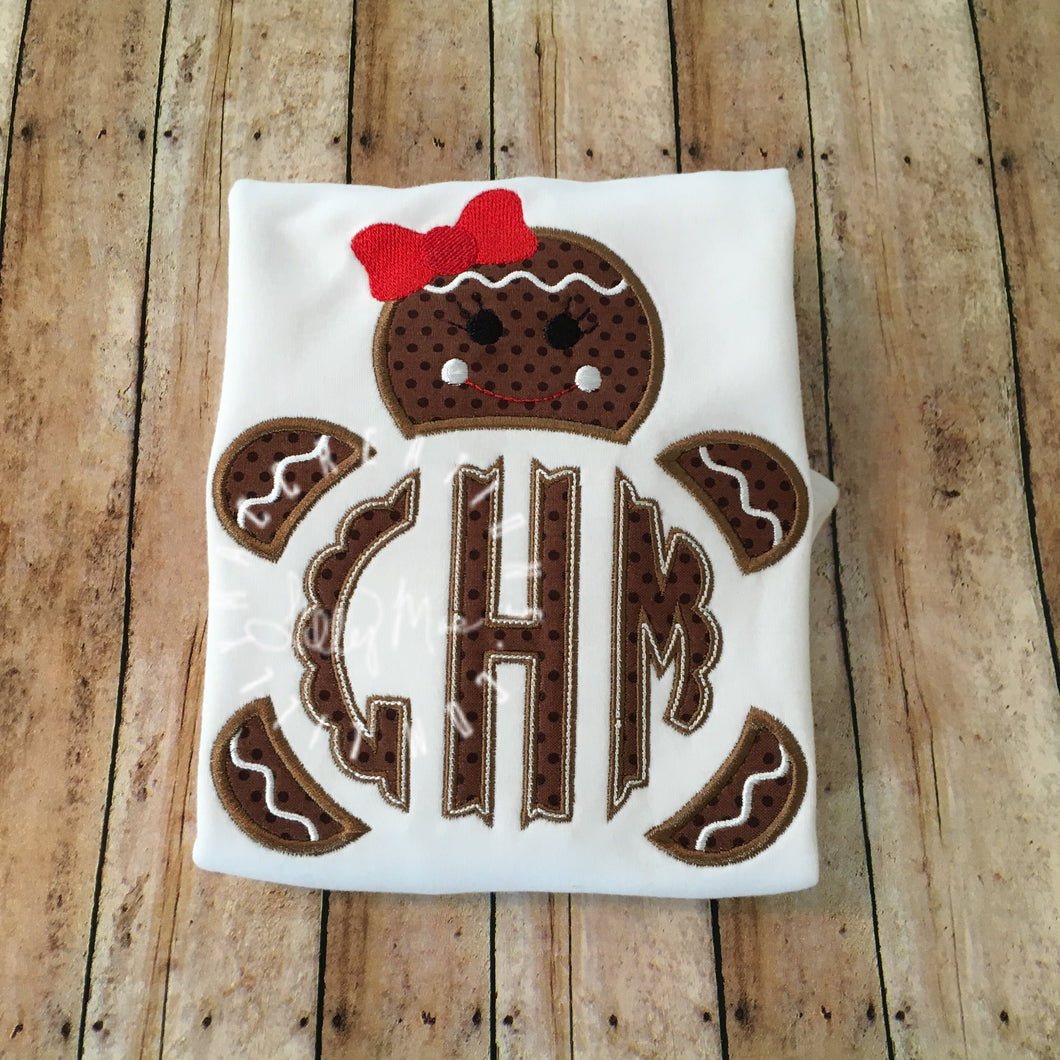 Gingerbread Girl Monogram Design
