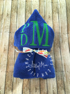 Monogram Hooded Towel