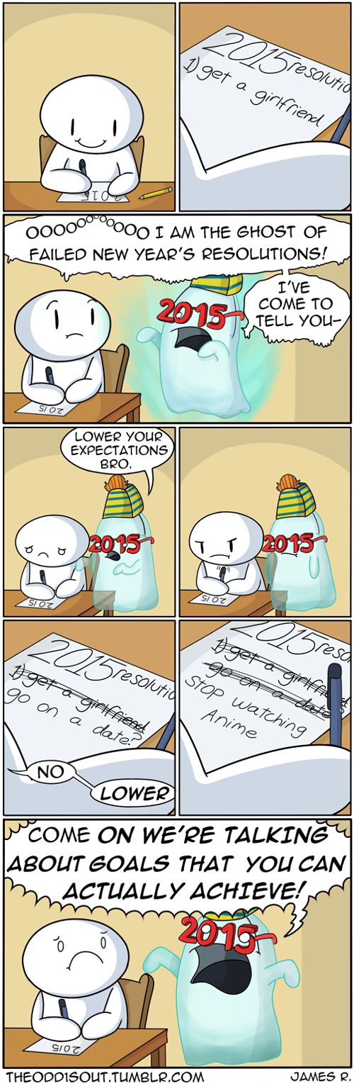 Ghost Of Failed New Year's Resolutions