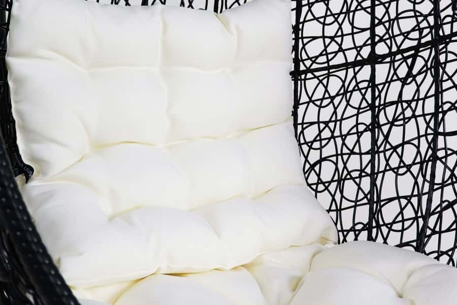 Black Cocoon Swing Chair White Cushion