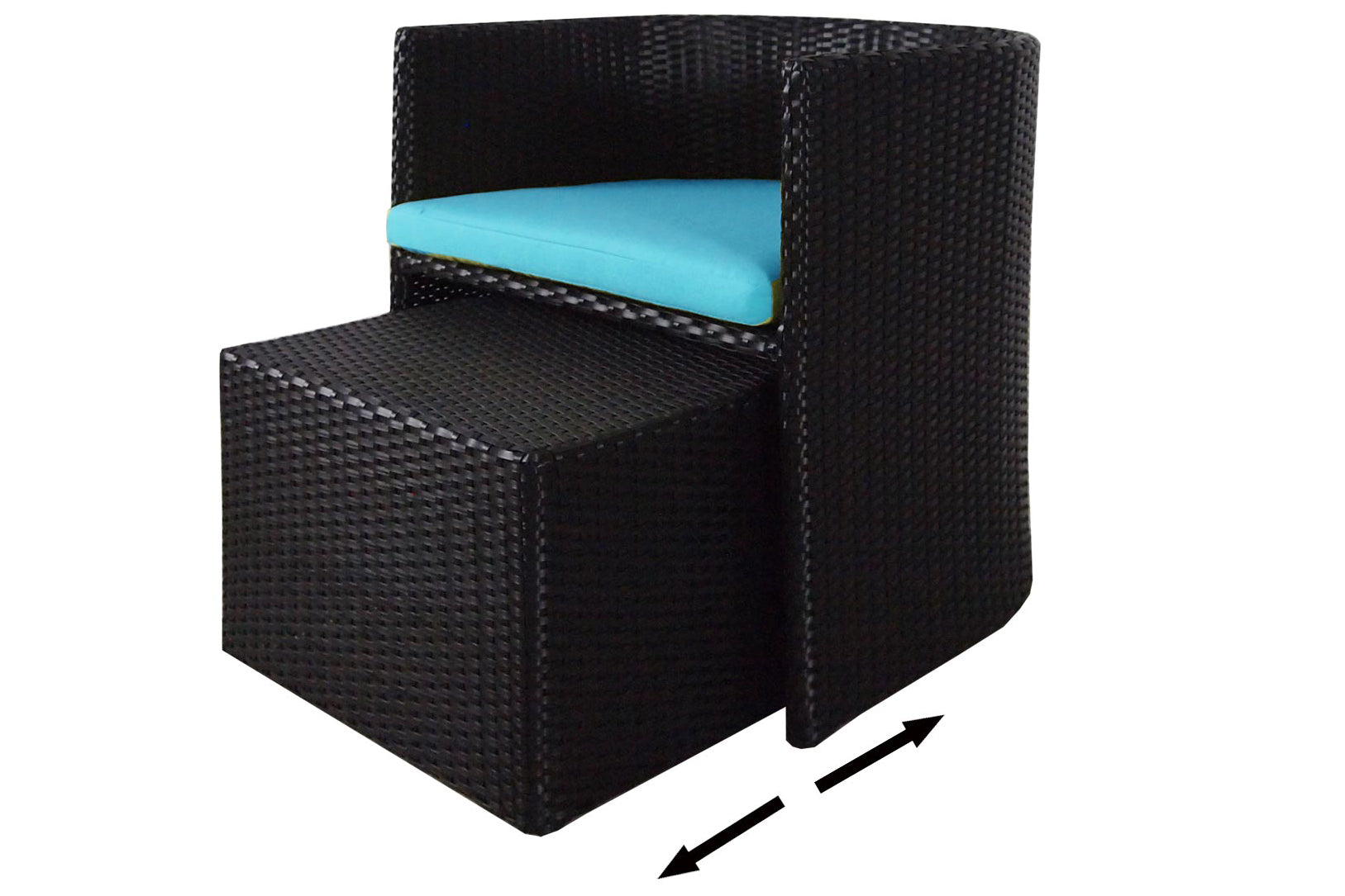 Caribbean Patio Set Blue Cushion