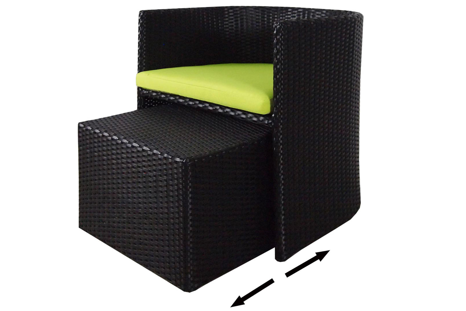 Caribbean Patio Set Green Cushion