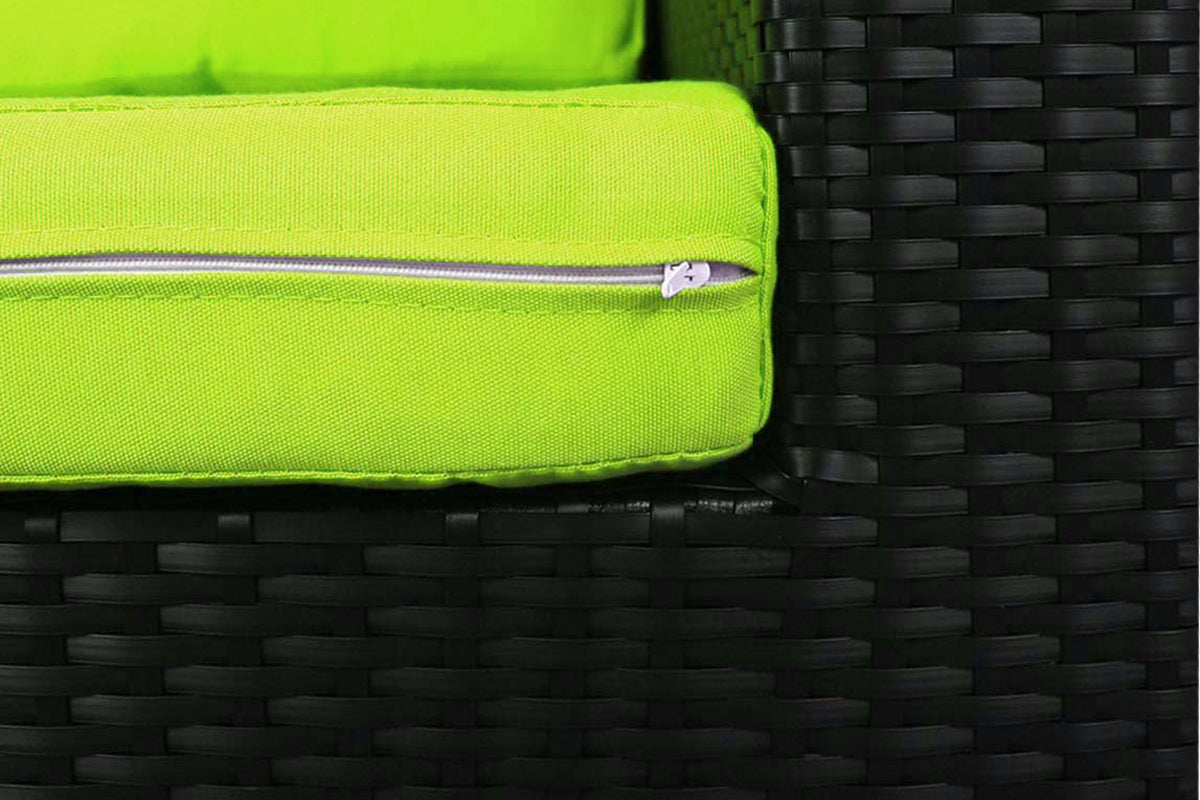 Summer Modular Sofa Set II Green Cushions