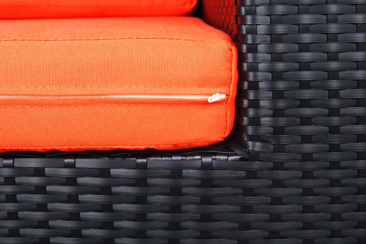 Summer Modular Sofa Set II Orange Cushions