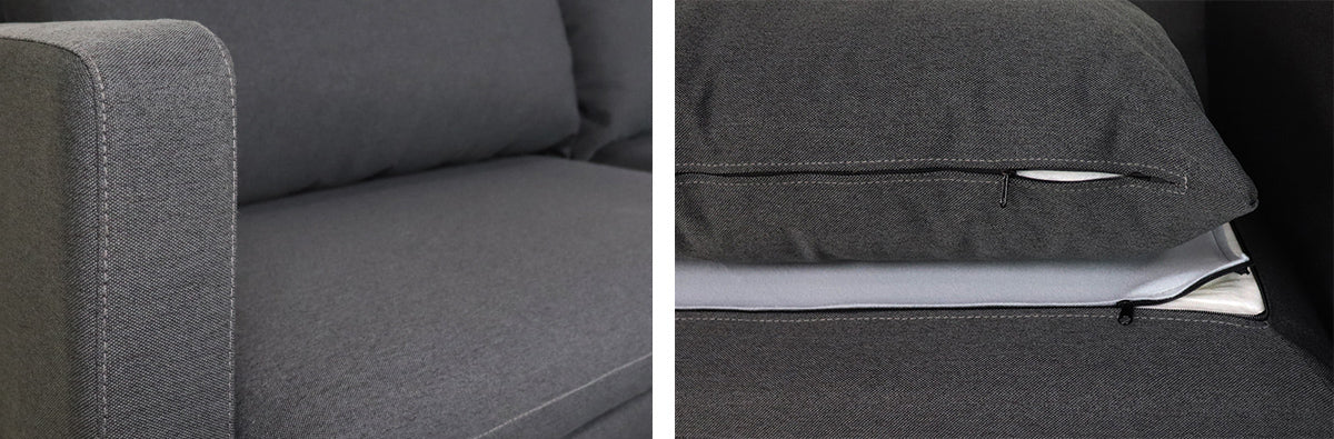 Hayley 3 Seater Sofa, Dark Grey