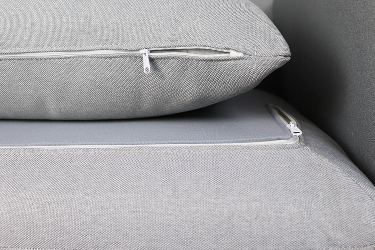 Hayley L Shape Sofa - Right When Seated Light Grey (OPEN BOX)