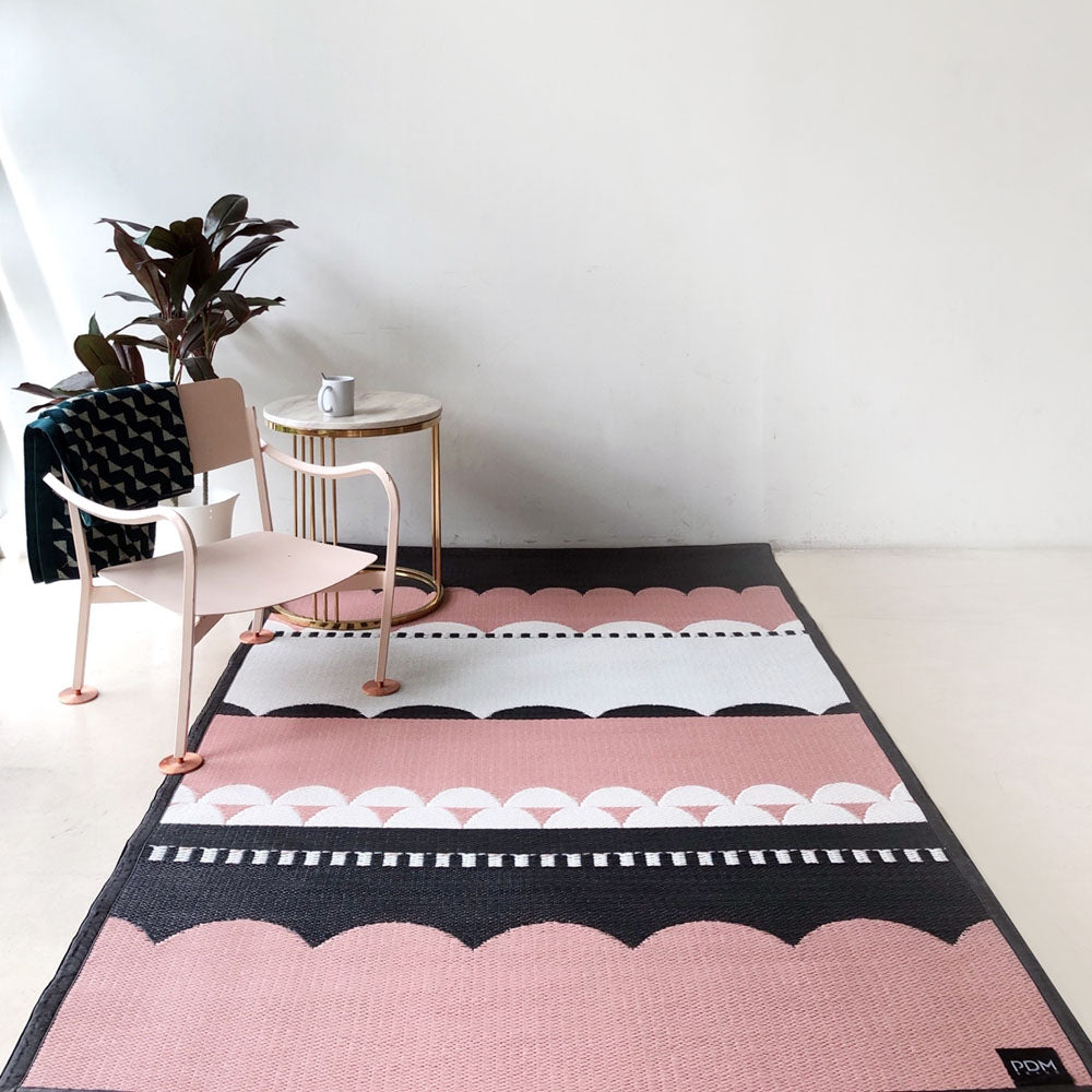 Laku, Pink Outdoor Mat - Medium Size