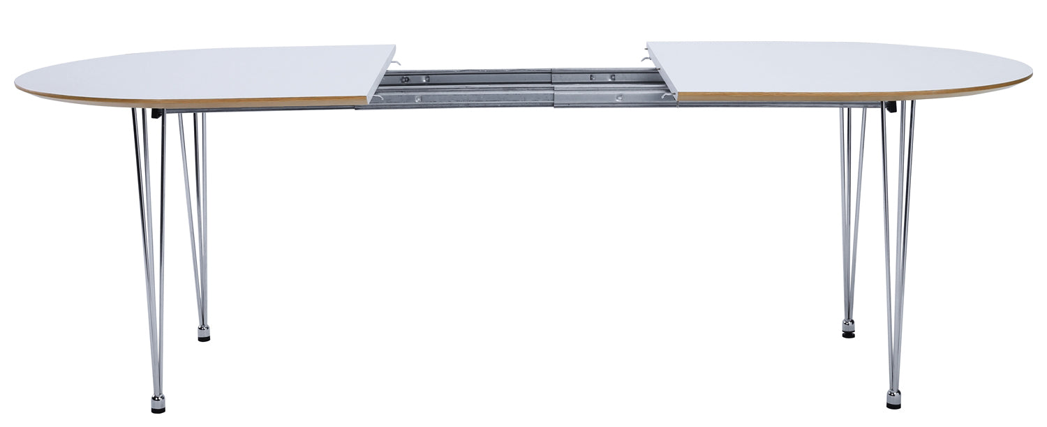 White-extenable-dining-table