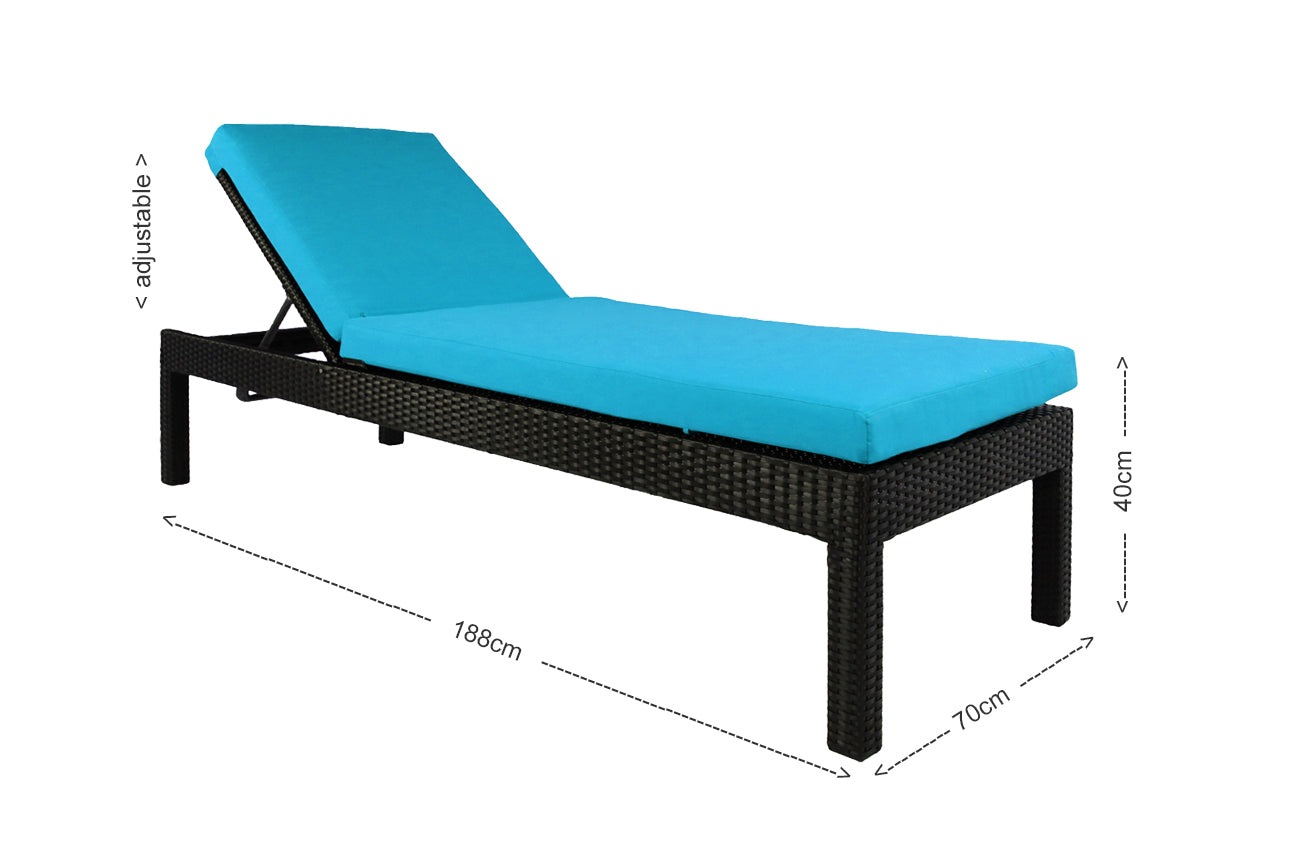 Wikiki Sunbed Blue Cushion