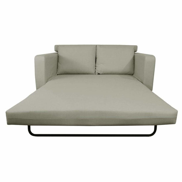 This is a product image of Aikin Sofa Bed Ash (2.5 Seater). It can be used as an Sofa Bed.
