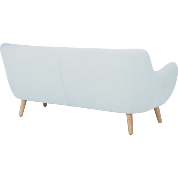 This is a product image of Alfa 3 Seater Sofa in Aquamarine Crepon Fabric. It can be used as an Sofa.