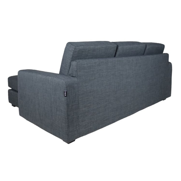 Anderson L Shape LEFT Side when Seated - Grey - Arena Living