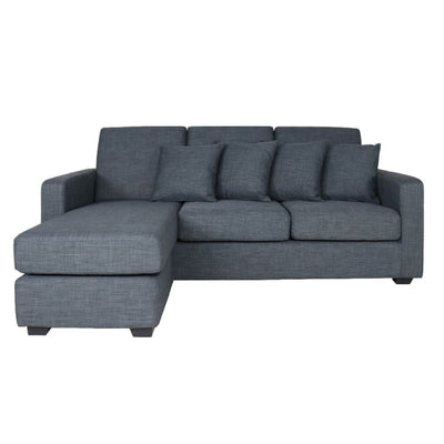 Anderson L Shape RIGHT Side when Seated - Grey - Arena Living