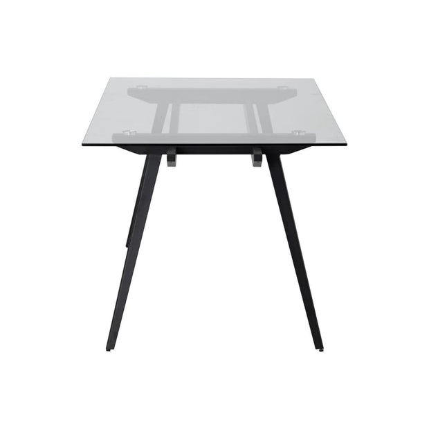 This is a product image of Archie 6-8 Seat Dining Table in Tempered Glass Top. It can be used as an Dining Table.