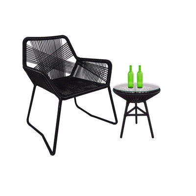 Bay 1 Chair + 1 Table Set - Outdoor