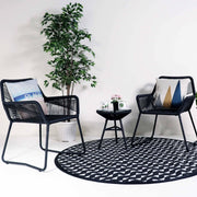 This is a product image of Bay 1 Chair + 1 Table Set. It can be used as an Outdoor Furniture.