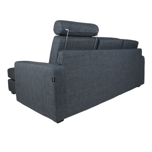 Bayron L Shape LEFT Side when Seated - Grey - Arena Living
