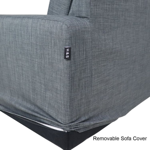 Bayron L Shape RIGHT Side when Seated - Grey - Arena Living