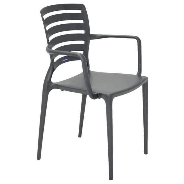 This is a product image of Black Sofia Armchair. It can be used as an Outdoor Furniture.