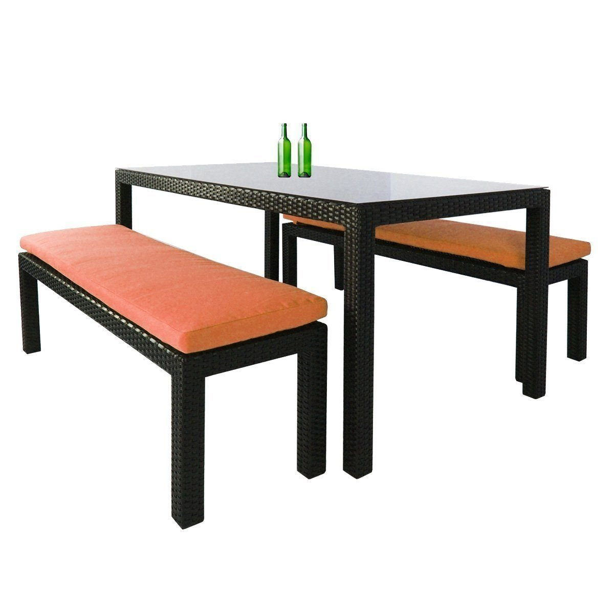 Bondi 3 Pcs Dining Set, Orange Cushion