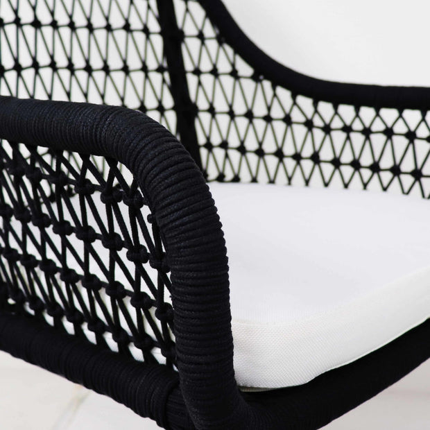 This is a product image of Bonito Outdoor 1 Seater Lounger Set in White Cushion. It can be used as an Outdoor Furniture.