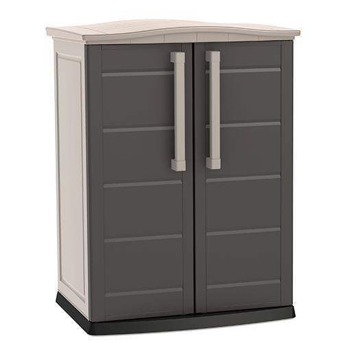 This is a product image of Boston Outdoor Cabinet Base Brown by Keter - Assembly Included. It can be used as an Storage Cabinet.
