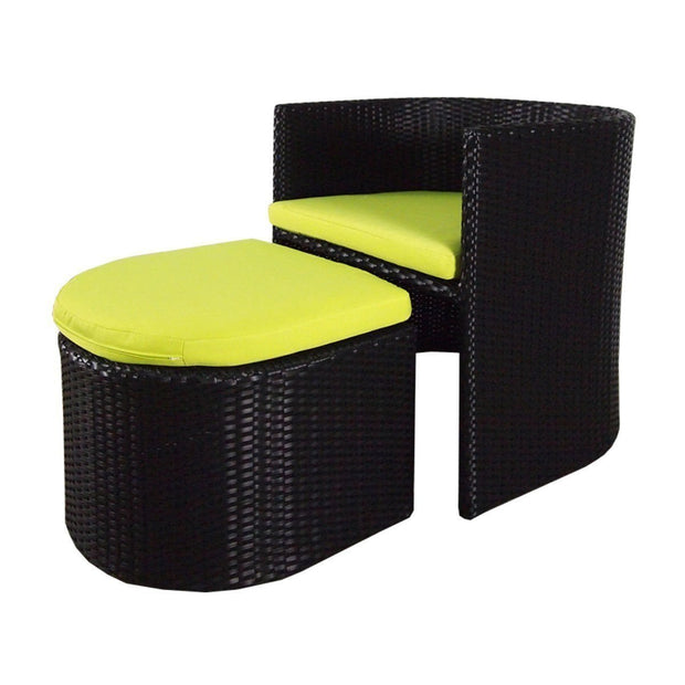 Caribbean Patio Set Green Cushion - Outdoor