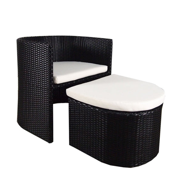 Caribbean Patio Set White Cushion - Outdoor