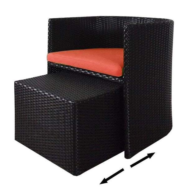 Caribbean Patio Set Orange Cushion - Outdoor