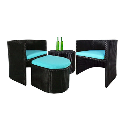 This is a product image of Caribbean Patio Set Blue Cushion. It can be used as an Outdoor Furniture.
