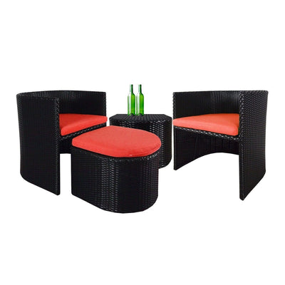 This is a product image of Caribbean Patio Set Orange Cushion. It can be used as an Outdoor Furniture.