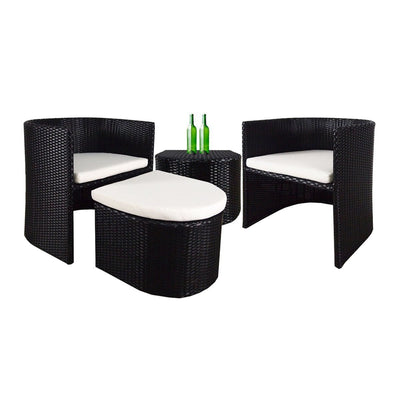 This is a product image of Caribbean Patio Set White Cushion. It can be used as an Outdoor Furniture.
