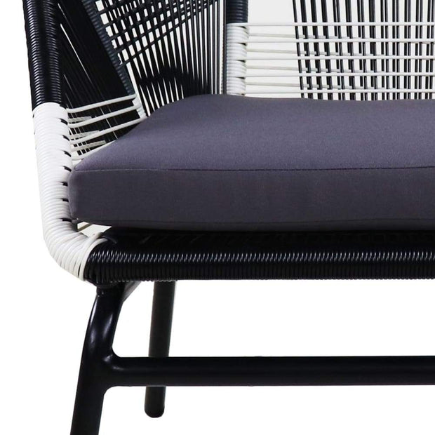 This is a product image of Catania 1 Seater Single Chair Grey Cushions. It can be used as an Outdoor Furniture.