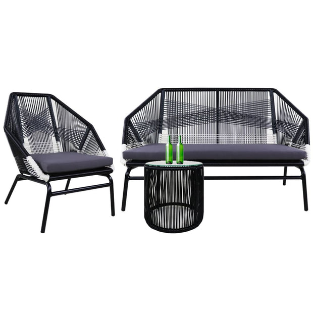 This is a product image of Catania Sofa 2 + 1 Seater Grey Cushions. It can be used as an Outdoor Furniture.