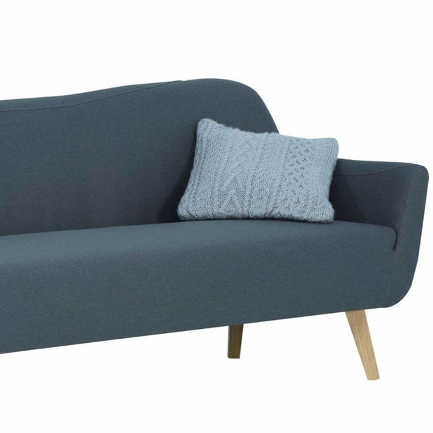 Clarus 3 Seater Sofa with Oak Leg Grey
