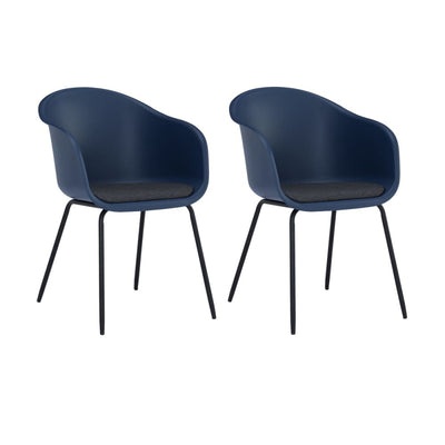 Colleen Dining Chair in Midnight Blue & Paloma Cushion Set of 2