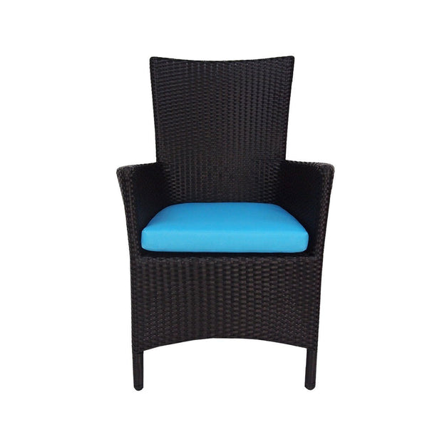 This is a product image of Costa Patio Set Blue Cushions. It can be used as an Outdoor Furniture.