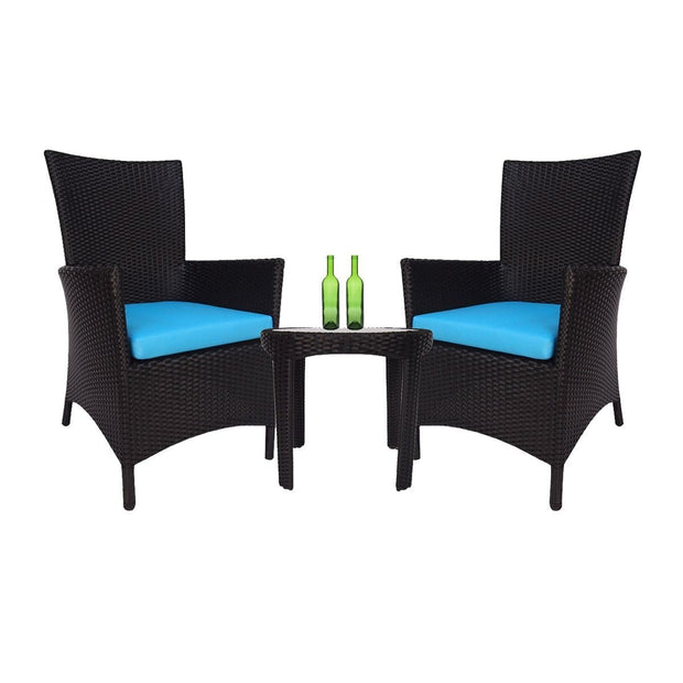 Costa Patio Set Blue Cushions - Outdoor