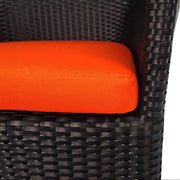 This is a product image of Costa Patio Set Orange Cushions. It can be used as an Outdoor Furniture.