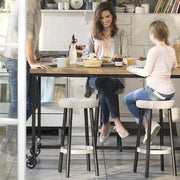 Cozy Bar Stool White by Keter