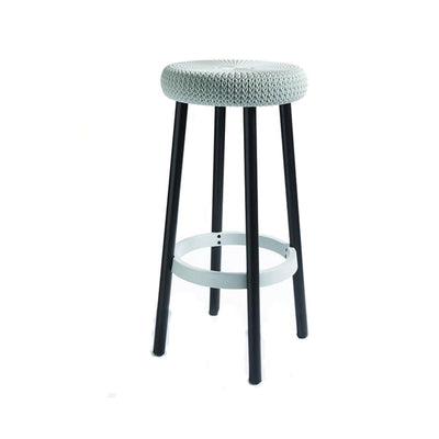 This is a product image of Cozy Bar Stool White by Keter. It can be used as an Outdoor Furniture.