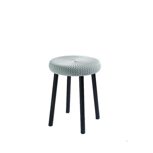 This is a product image of Cozy Stool Foggy Grey by Keter. It can be used as an Outdoor Furniture.