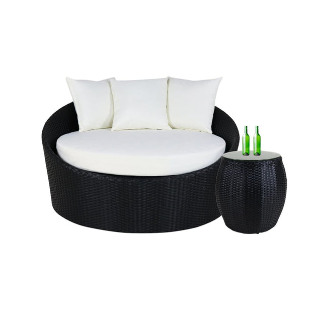 This is a product image of Cushion Covers + Insert for Round Sofa with Coffee Table. It can be used as an Cushions for Outdoor Furniture.